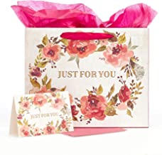 with Love Brand Just for You Medium Inspirational Gift Bag with Tissue Paper and Card