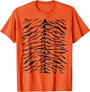 Tiger Print T-Shirt Cute Costume Idea Orange Tigers Stripes