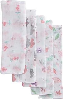 Fralda Luxo Estampada com Bainha, Papi Textil, Rosa