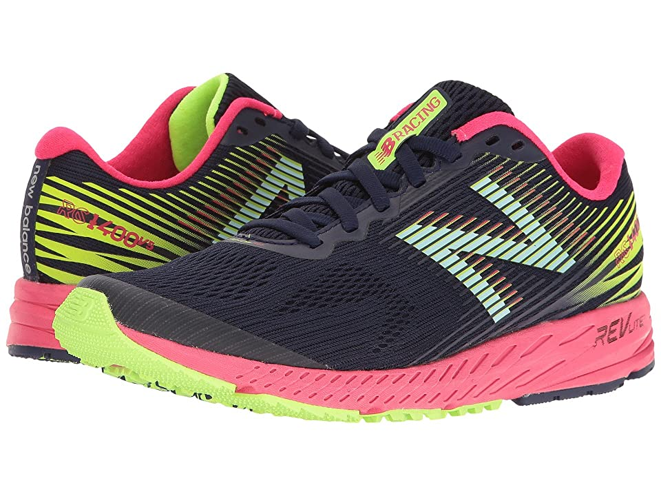 New Balance 1400v5 (Dark Denim/Bright Cherry/Lime Glo) Women