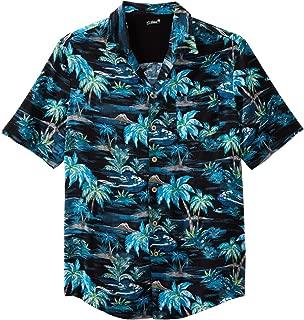 Kingsize Island Collection Men's Big & Tall Tropical Caribbean Camp Shirt