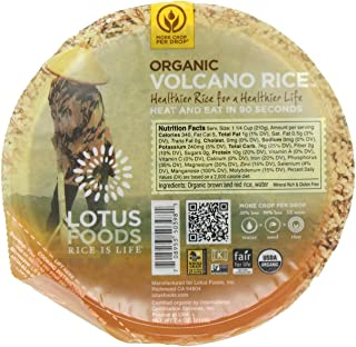 Lotus Foods Gourmet More Crop per Drop Rice Bowl, Volcano, 7.4 Ounce (Pack of 6)