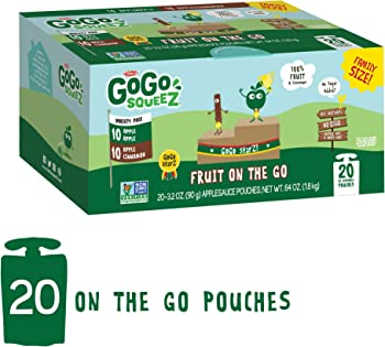 20-Count GoGo squeeZ Applesauce on the Go Variety Pack