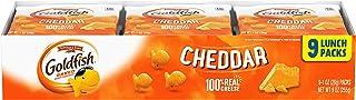 Pepperidge Farm Goldfish Crackers, Cheddar, 9-count Multi-pack Tray,1 oz. Snack Packs