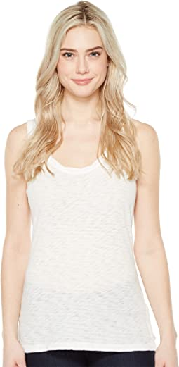 Gauzy Cotton Tank Top w/ Twisted Neck