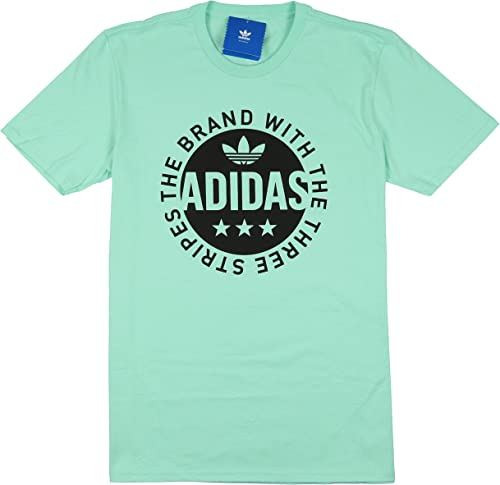 Adidas Circle Star T-Shirt pour Homme avec Logo Easy Mint vert Noir Taille S