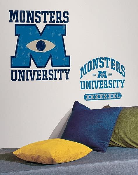 Disney S Monsters University Movie Logo Wall Decal 19 5 X19 75