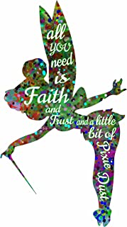 ArtDash® Pop Art Print: Watercolor Splatter TINKERBELL w/Inspirational Quote (11