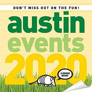 Austin Texas Events Wall Calendar 2020 - Over 250 Austin Event Dates and Activities Already On Your Calendar!