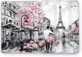 Wonder Wild Paris Love iPad 5th 6th Generation Mini 1 2 3 4 White Black Pink Air 2 Pro 10.5 12.9 2018 2017 9.7 inch Smart Cover World Design Case Apple Print Clear Traveler Couple Eiffel Tower Art