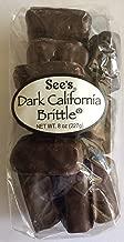 See's Candies Dark California Brittle 8 Oz