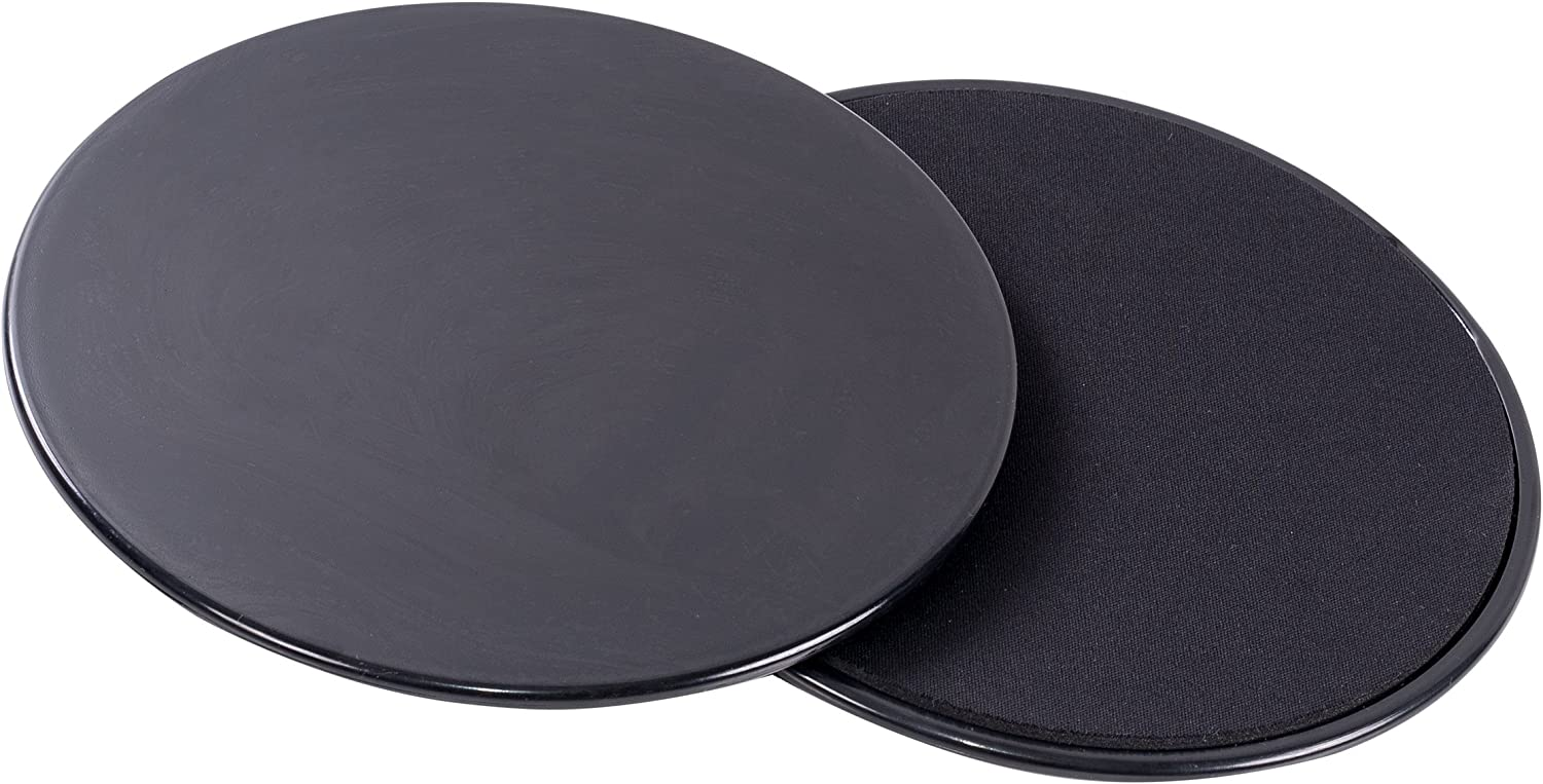 Gliding Discs Black Exercise Sliders for Workout Sliders & Core Slider Made of Durable Dual Sided Use on Hardwood and Carpet