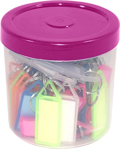 SNDIA Multicolor Keyring & Keychain with Name Tag Labels (Pack of 50) product image