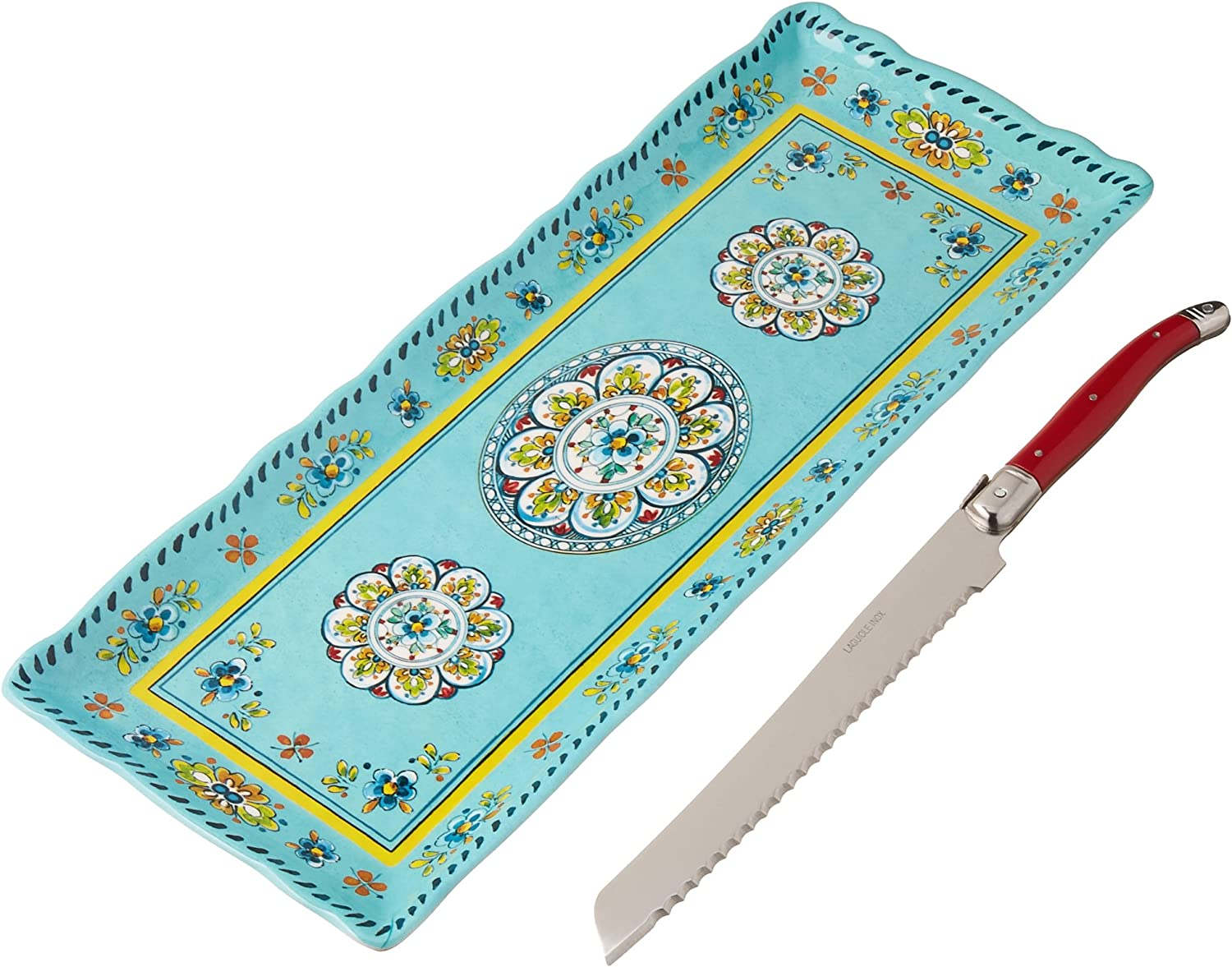 Le Cadeaux Madrid Melamine Baguette Max 52% OFF Knif Tray Free shipping Laguiole and Bread