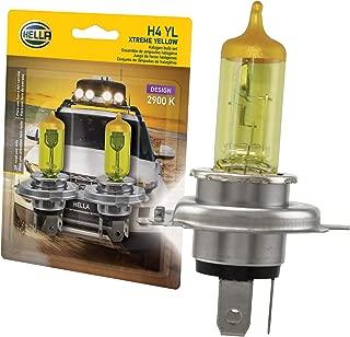 HELLA H4 Yellow-60/55W YL Xtreme Yellow Bulbs, 12V, 60/55W, 2 Pack