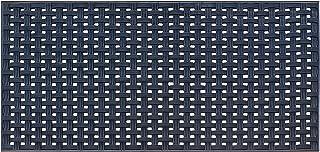"""A1HC Basket Weave Design Indoor/Outdoor Decorative Durable Rubber Doormat 32""""X48"""", Black"""