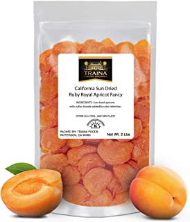 Sponsored Ad - Traina Home Grown California Sun Dried Fancy Ruby Royal Apricots - No Sugar Added, Non GMO, Gluten Free, Ko...