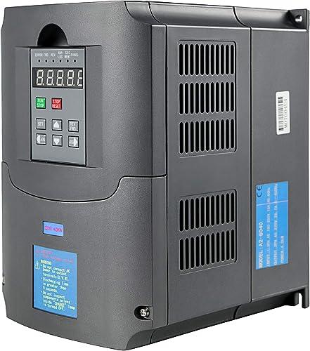lowest Mophorn 220V 4KW VFD Variable Frequency Drive CNC outlet online sale VFD Motor Drive Inverter Converter for CNC online Router Milling Machine Spindle Motor Speed Control (220V2/4KW VFD) online sale