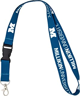 Millikin University NCAA Car Keys ID Badge Holder Lanyard Keychain Detachable Breakaway Snap Buckle
