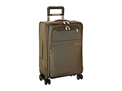 Briggs & Riley Baseline Domestic Carry-On Expandable Spinner (Olive) Carry on Luggage