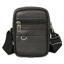 Pramadda Pure Luxury Boss SMALL Leather Sling Bag for Men Women   Classic Chest Slinger   Mobile Pocket Sling Bags