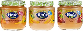 HERO BABY Food Jar Assorted, 125g, Pack of 3