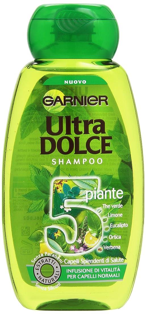 講義赤字変換するガルニエウルトラドルチェ5植物通常髪用活力シャンプー注入、250 ml