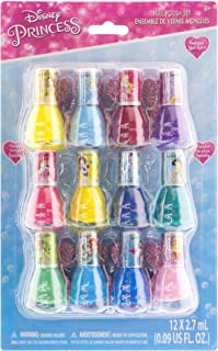 ست هدیه لهستانی ناخن لایه بردار ناخن Townley Girl Disney Princess ، 12 عدد