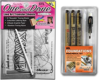 Pigma Micron, Gelly Roll, One & Done - Trace and Transfer Bible Journaling Kit