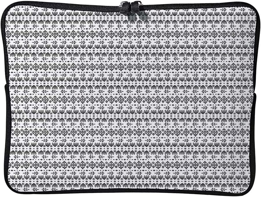 C COABALLA Laptop Bag Tribal Style Geometric Triangles Leaves Laptop Sleeve Bag Water-Resistant Protective Case Bag Compatible with Any Notebook AM031658 17 inch//17.3 inch