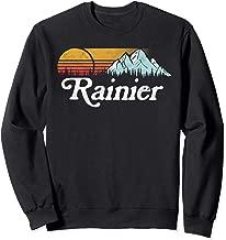 Retro Vibe Mount Rainier Sweatshirt Vintage Mountains & Sun