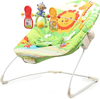 The Flyers Bay Fiddle Diddle Baby Bouncer Cum Rocker, Lion Green