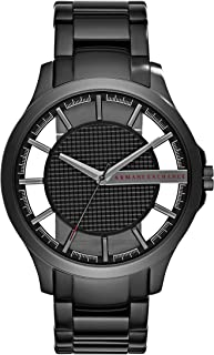 A|X Armani Exchange Men's Black IP Stainless Steel Watch