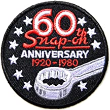 Patch Iron on Applique Embroidered for Snap on Wrench Tool Car Garage Automotive Hot Rod Motorcycle Biker Racer Racing Automotive Garage Racing T Shirt Jacket Costume Craft Clothes Accessories