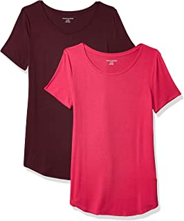 Amazon Essentials Women's 2-Pack Short-Sleeve Scoopneck Tunic
