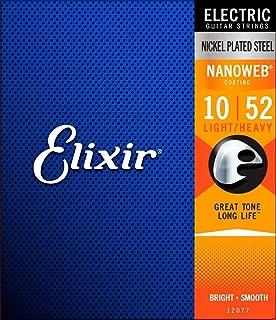 Elixir Strings Electric Guitar Strings w NANOWEB Coating, Light/Heavy (.010-.052)