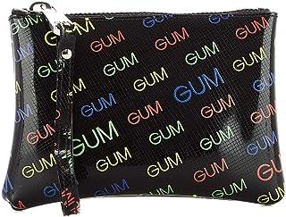 Gum Women's BC405119PEGUMGUMGUM Black Rubber Clutch