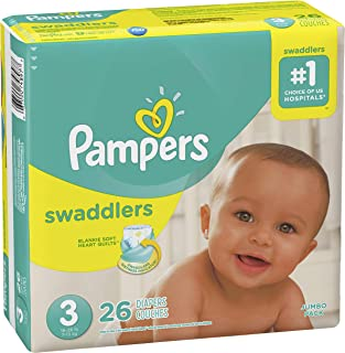 Diapers Size 3, 26 Count - Pampers Swaddlers Disposable Baby Diapers
