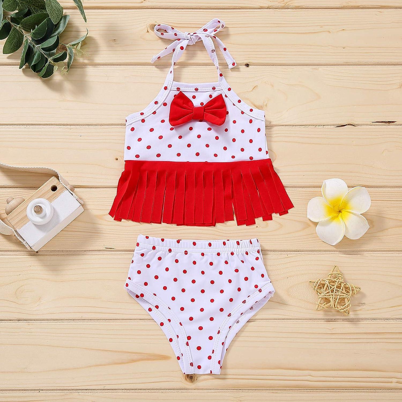 2021 Infant Baby Girl 2Pcs Bikini Sets Summer Tassel Floral Swimsuit Beach Clothes Newborn Bathing Suit Swimwear