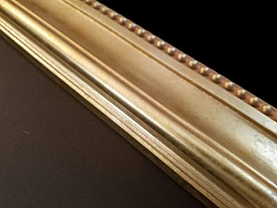 DIY 36 x 48 2 Wide Champagne Finish Wood Picture Frame Moulding