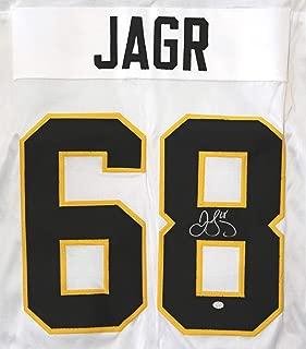 Jaromir Jagr Pittsburgh Penguins Signed Autographed White #68 Custom Jersey PAAS COA