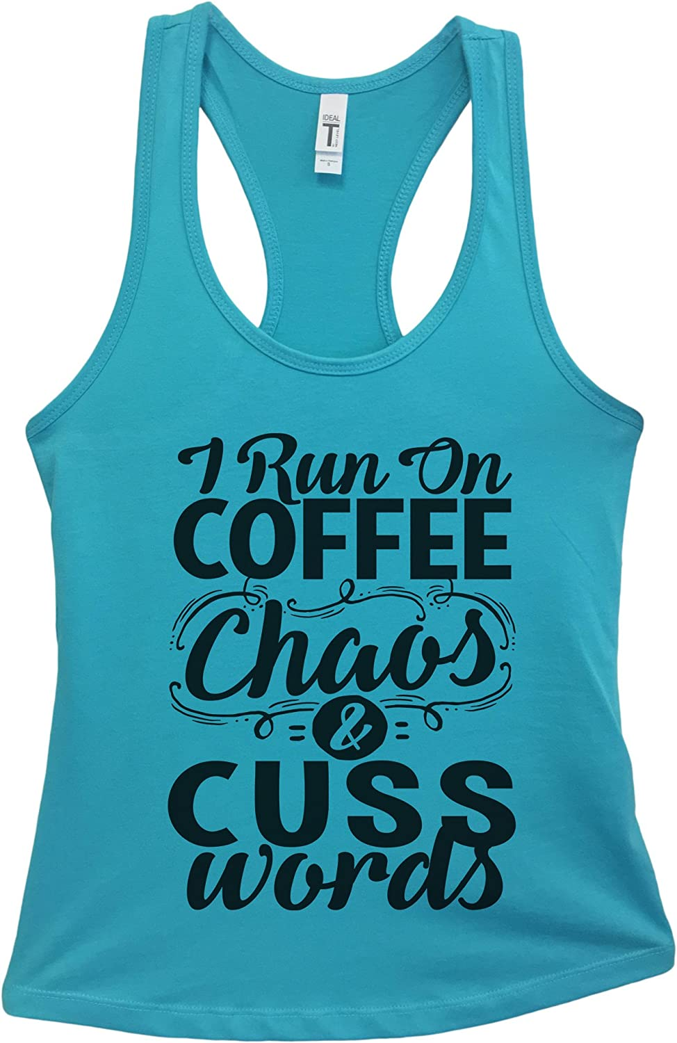 Coffee curves and cuss words thats what I/'m made of racerback tank summer tank tops funny tank