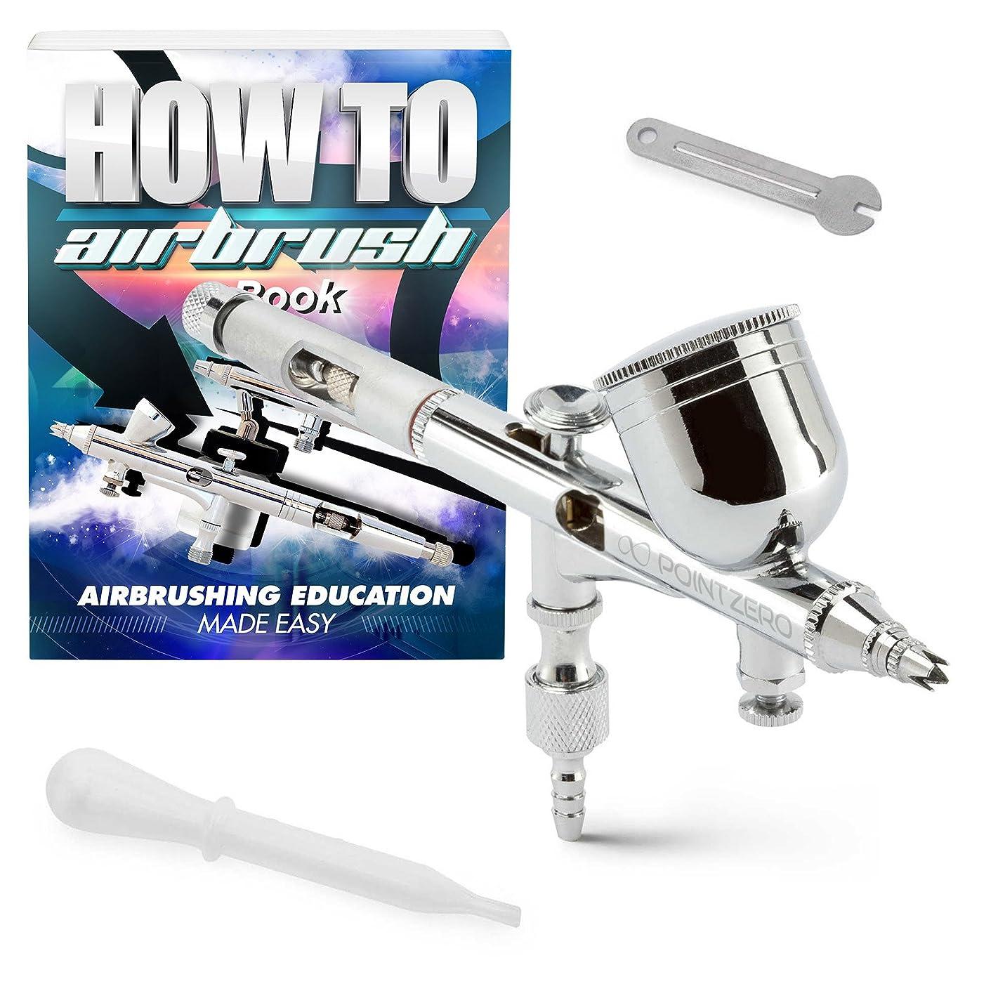 PointZero Dual-Action 9cc Gravity-Feed Airbrush Set w/MAC Valve - .2mm Nozzle