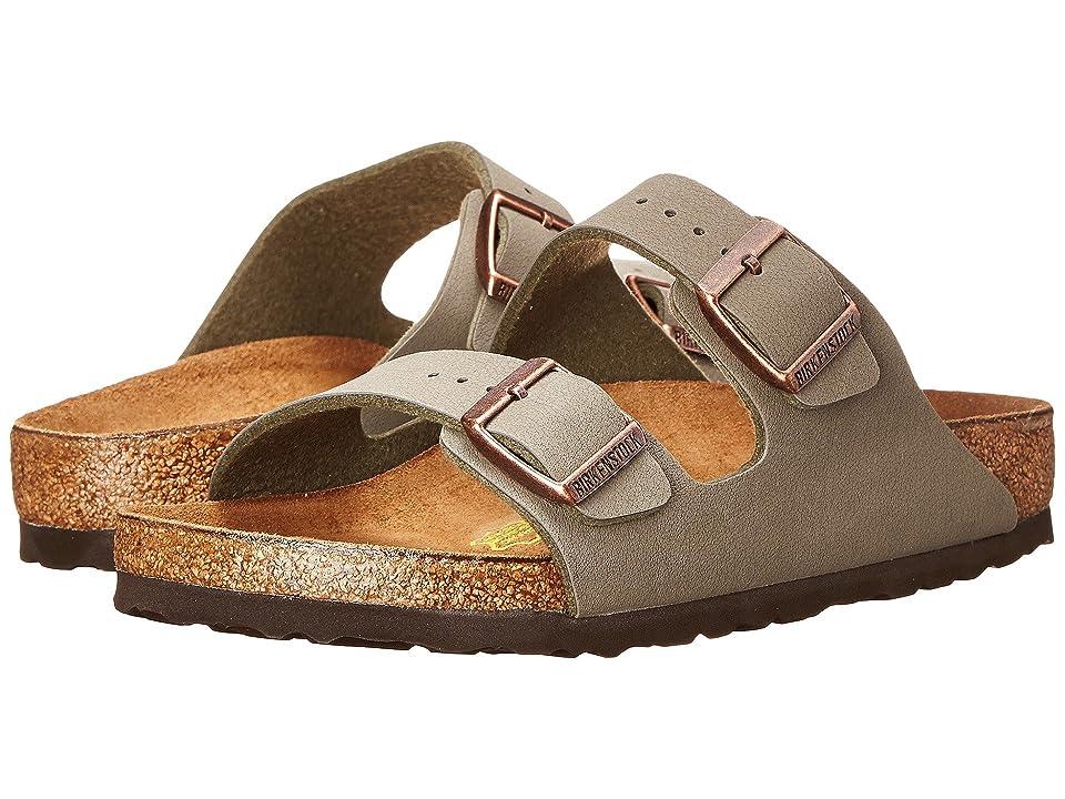 Birkenstock Arizona Birkibuctm (Unisex) (Stone Birkibuc) Sandals