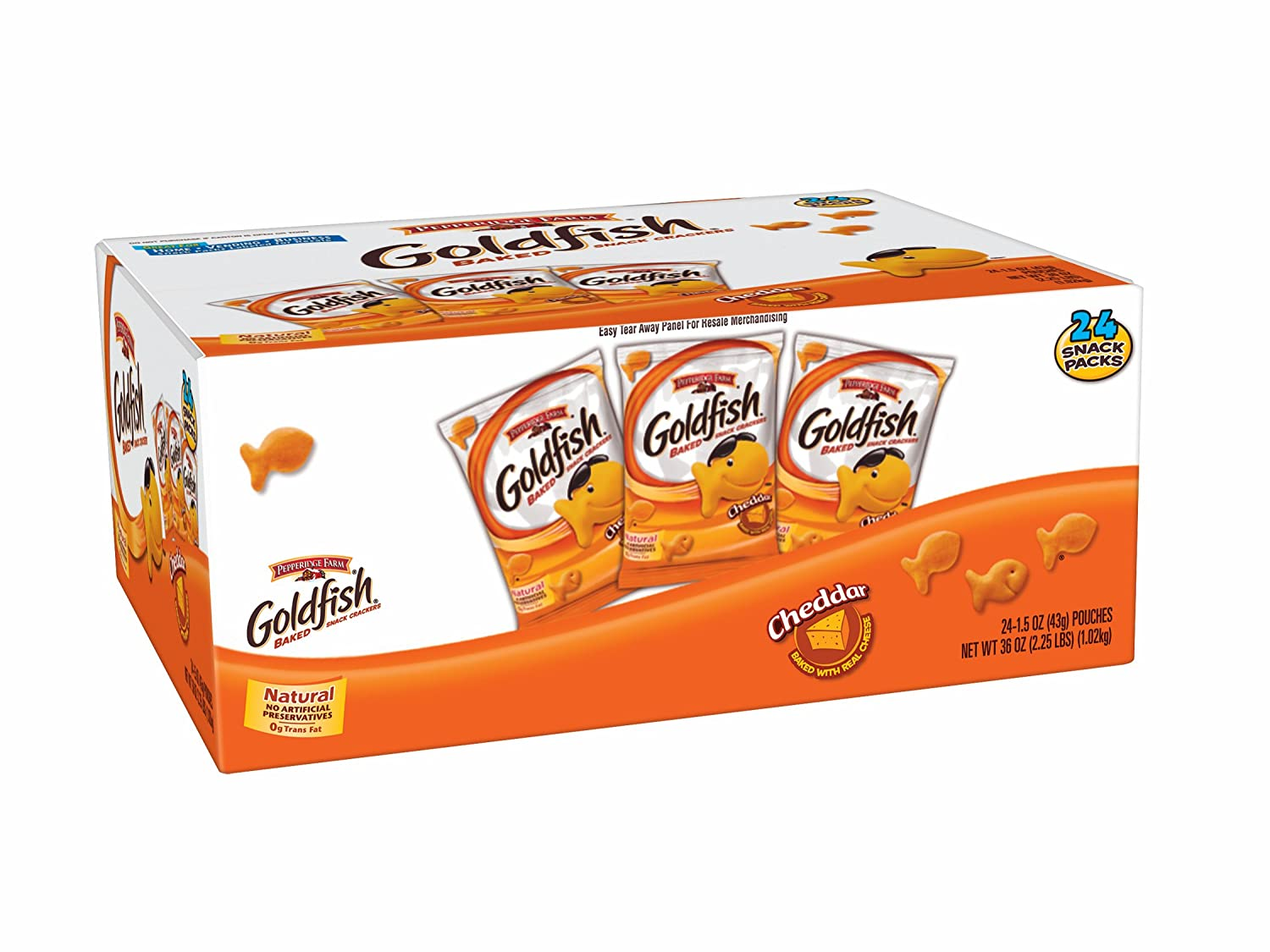 Pepperidge Farm Fixed price for sale Goldfish Cheddar 24 Count Bags oz o Pack 1.5 Award