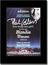 - British Summer Time Festival 2017 - Phil Collins - Blondie - Revista montada Obra de arte promocional en una montura negra - Matted Mounted Magazine Promotional Artwork on a Black Mount