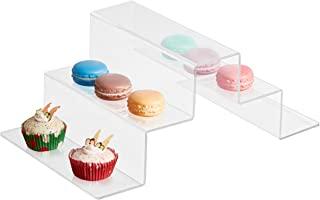 5-Tier Modern Stair-Step Design Clear Acrylic Dessert Cupcake Riser Display Stand