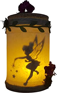 Tinkerbell catturato in un barattolo luminoso, luce notturna per la stanza del bambino. prodotto artigianale.
