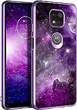 BENTOBEN Moto G Power 2021 Case, Slim Fit Glow in The Dark Soft Flexible Bumper Protective Shockproof Anti Scratch Non-Slip Cute Cases Cover for Motorola Moto G Power (2021) 6.6 Inch, Purple Nebula