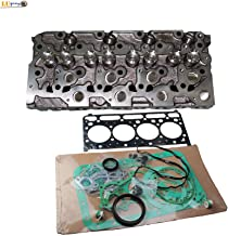 Complete Cylinder Head + Full Gasket Kit 6655153 for Kubota V2203 V2203T V2203E V2203B Engine Bobcat Loaders